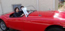 ご主人の愛車、イギリスのクラシックカー「MGA」